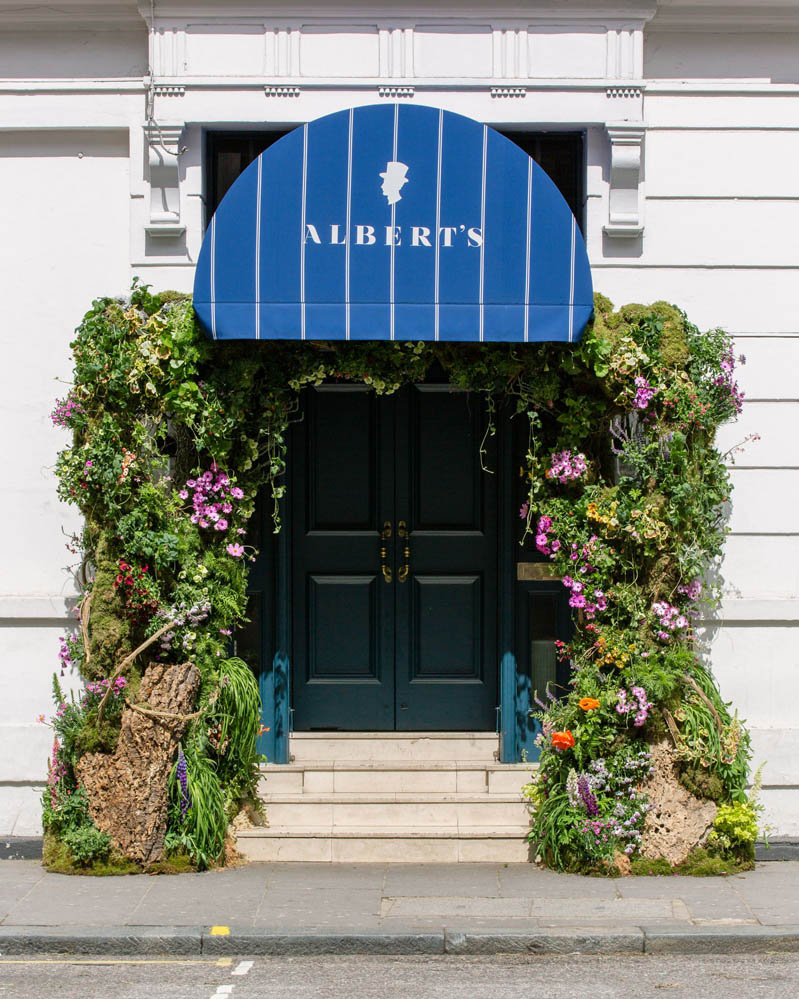 cottage garden arch for Alberts Club ( Chelsea in Bloom)