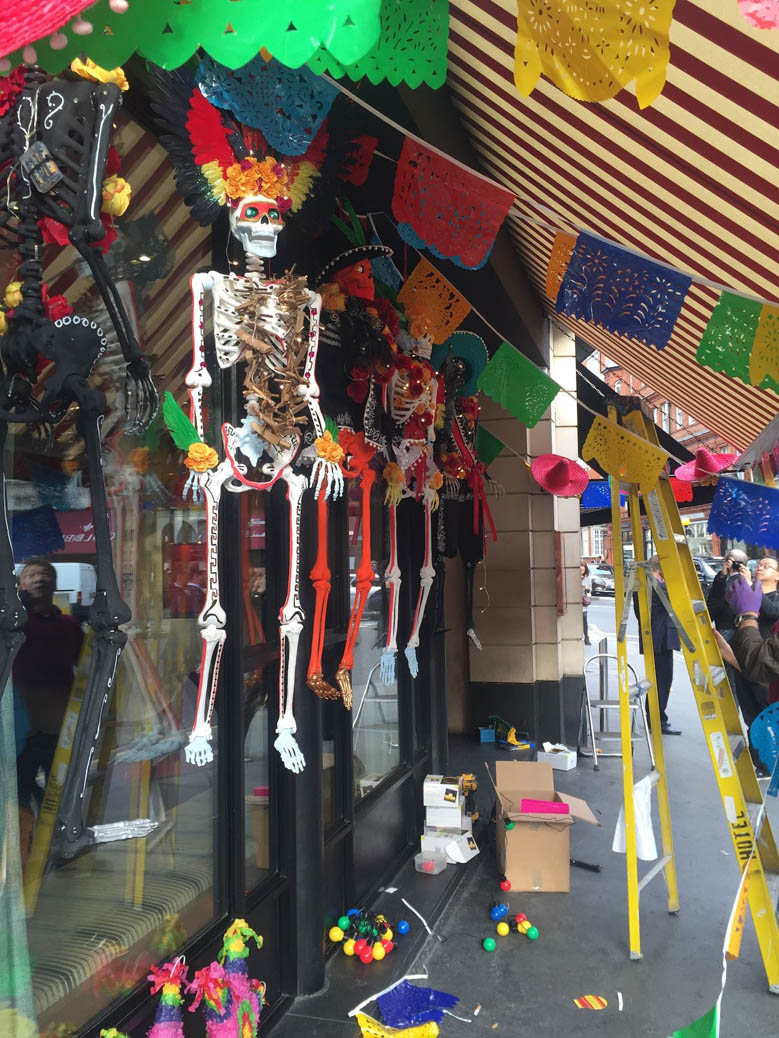 Day of The Dead party styling at Tonteria Chelsea