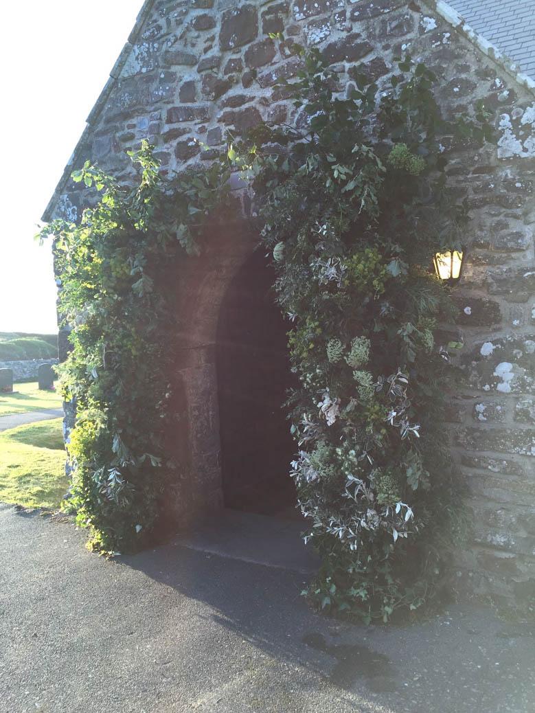 Seasonal Foliage Arch for Whales Wedding with Wedding Planner Jeremy Sillett