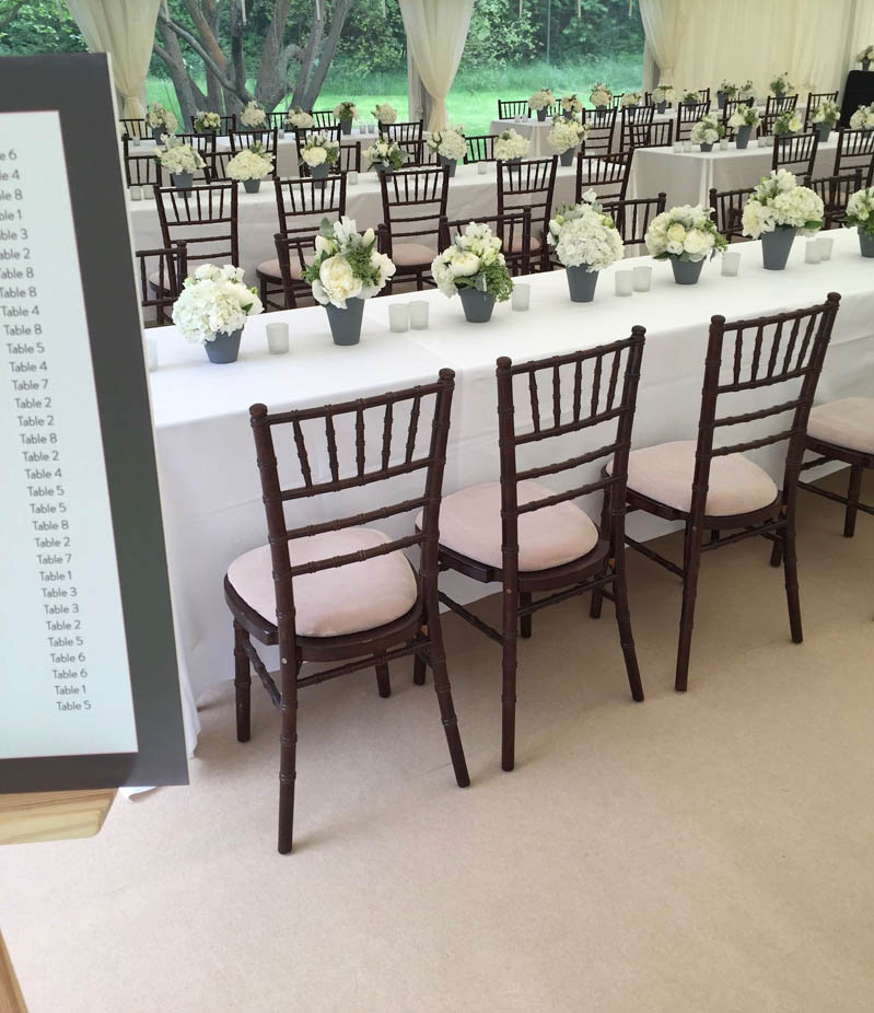 French grey pots and simple whites for country garden marquee wedding