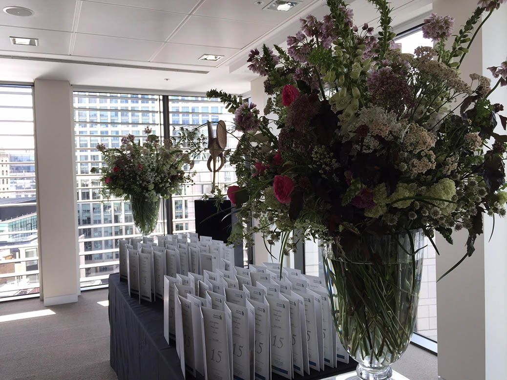 large seasonal vases for City Bank