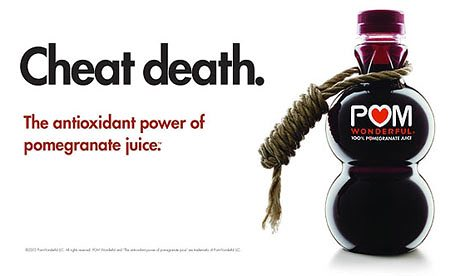 POM Wonderful contains 48 grams of sugar per 12 ounces compared to 39 grams in a can of Coca Cola.
