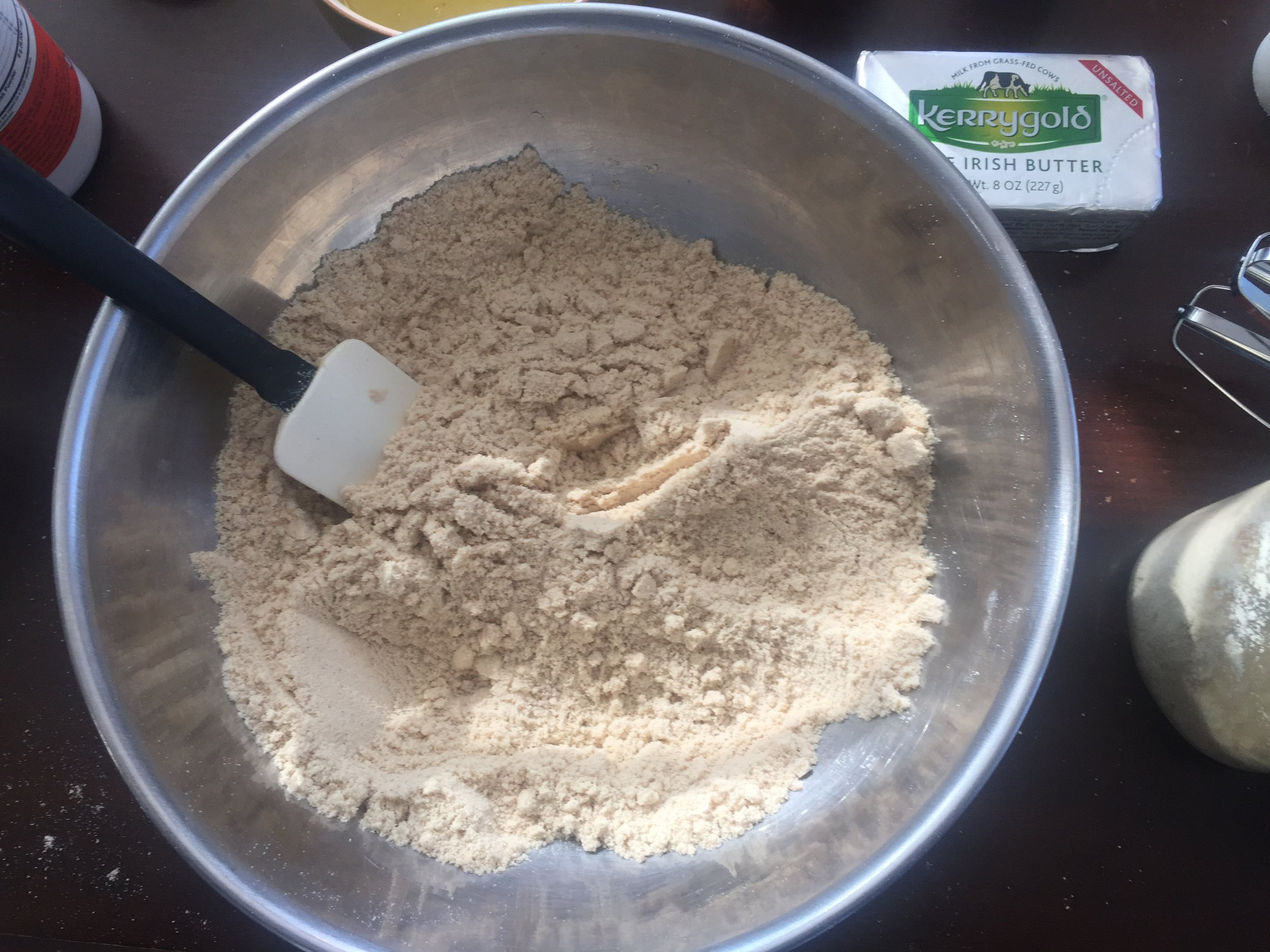 mct bread dry ingredients mixed