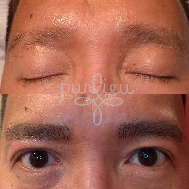 This one's for the boys! #manbrows #microbladed #microblading #microblade #brows #purlieu #seattlebrows