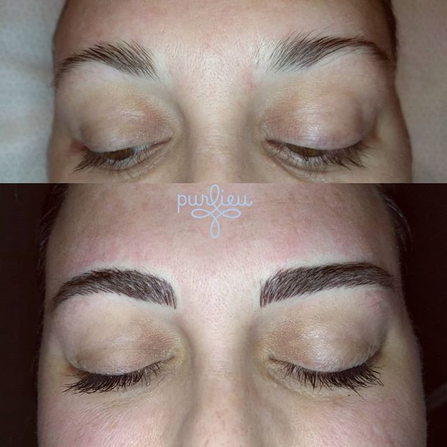 Before and after, new brows #microblading #microblade #microbladed #purlieu #seattlebrows #seattlemicroblade