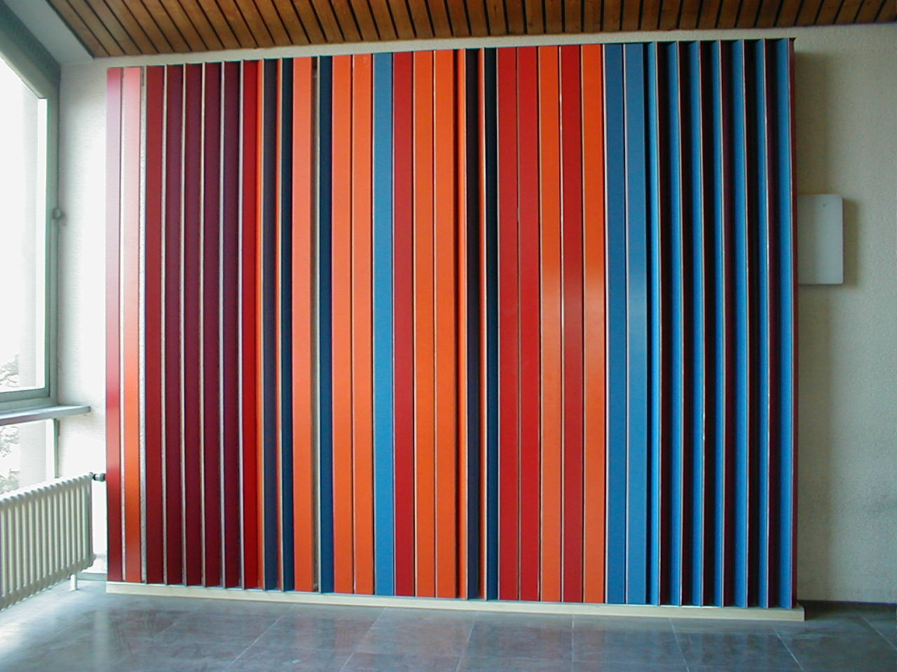 'Interventions', Interactive color installation in front of the main auditorium @TU KL, 2003  Independent student project  ©Etta Dannemann + Sonja Nagel