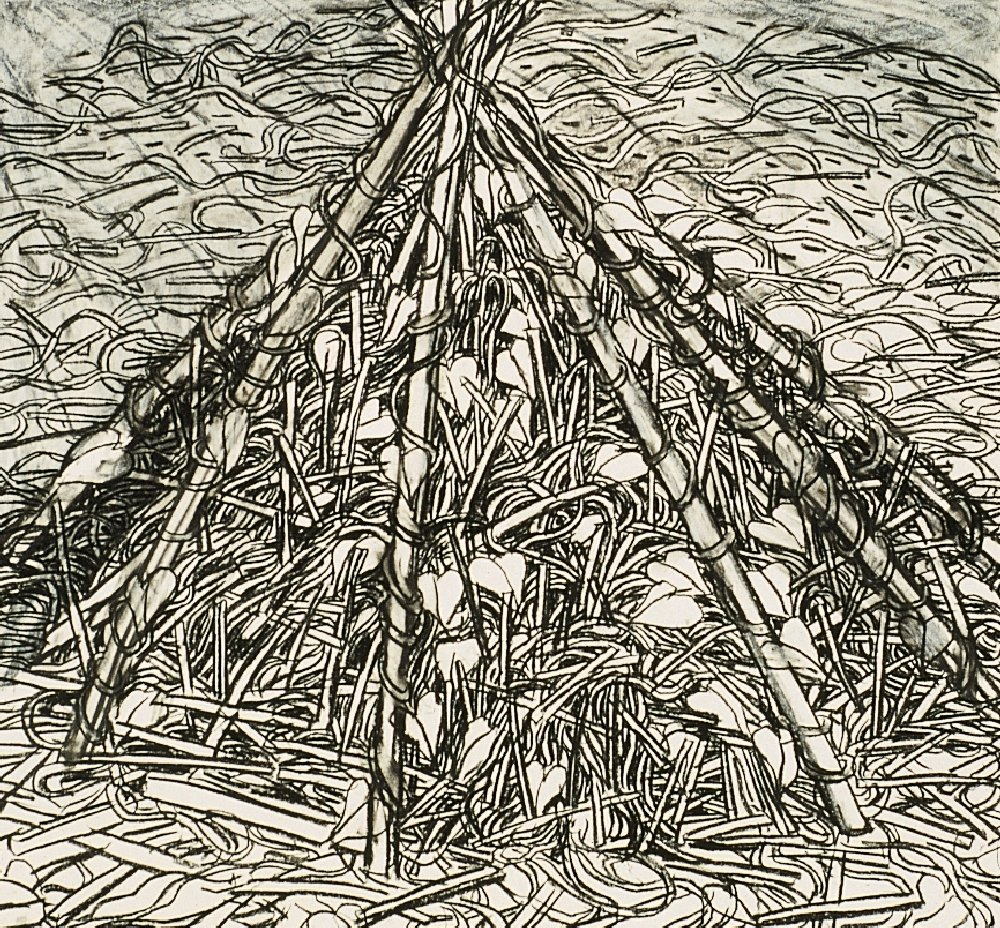 """Untitled, 18"""" x 24"""", charcoal on paper, 1991 (private collection)"""