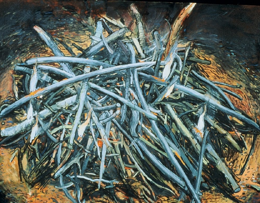 """Fire, 48"""" x 60"""", oil on canvas, 1997"""