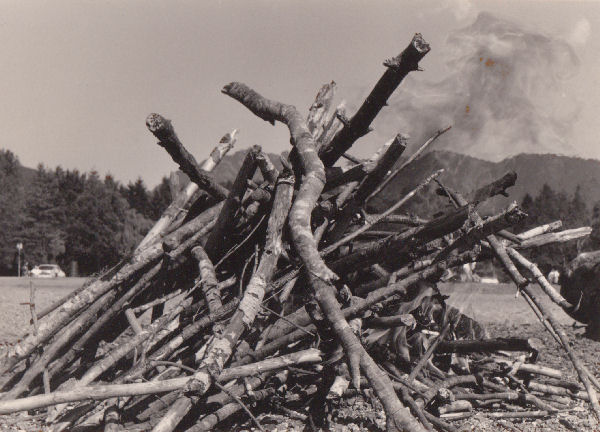 Burning the sticks, West Vancouver, 1994