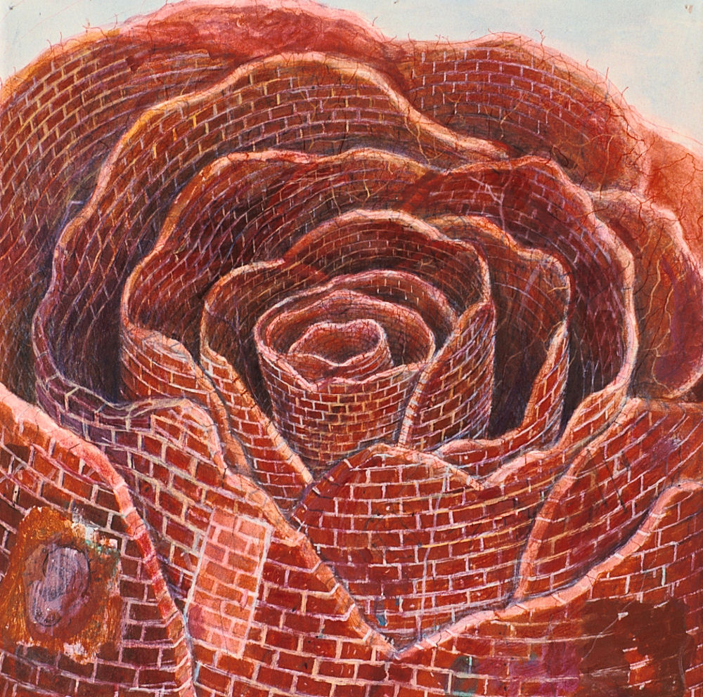 "Rose, 12"" x 12"", acrylic on canvas, 2003-09"