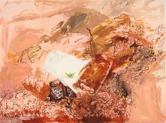 "Paper Crane, 60"" x 75"", oil on canvas, 1989"