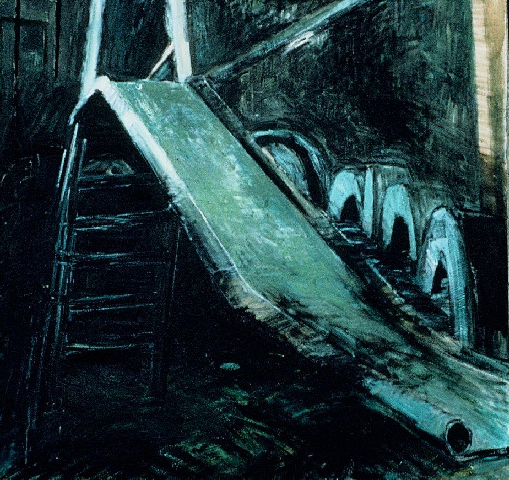 "Slide 2, 60"" x 72"", oil on canvas, 1987"