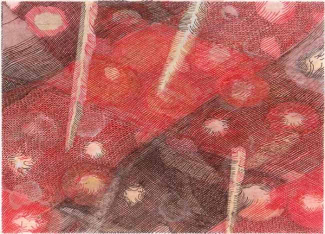 """Condition 2, 7"""" x 9"""", mixed media on paper, 2009-16"""
