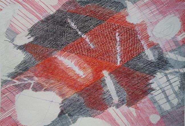 "Cuts, 7"" x 9"", gouache on paper, 2010"