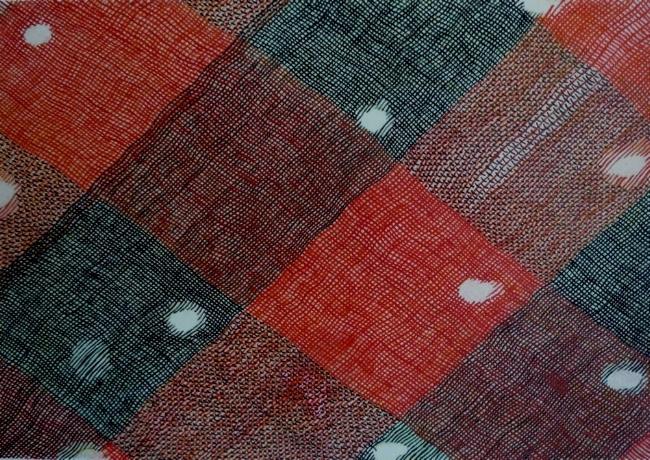 """Holes, 7"""" x 9"""", gouache on paper, 2010"""