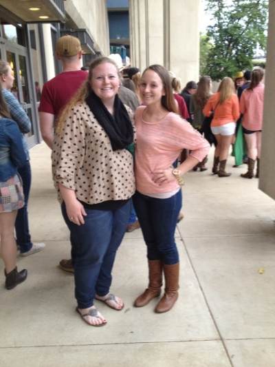 My best friend Kelley and I at a free concert in college.