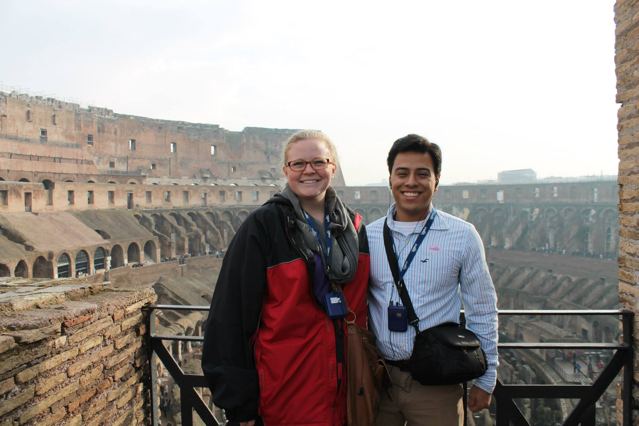 At the Colosseum in Rome on our honeymoon.