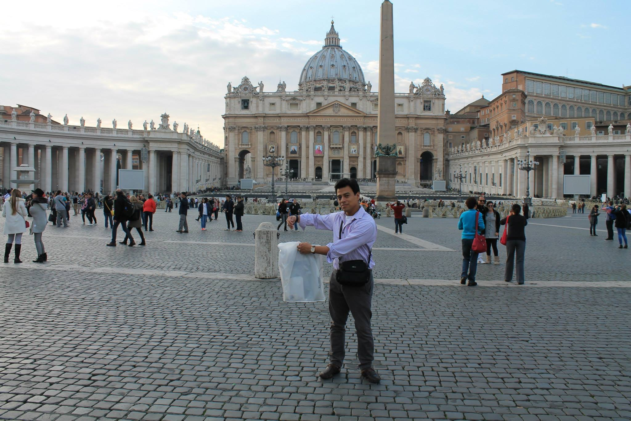 Michael hanging with The Pope at the Vatican.