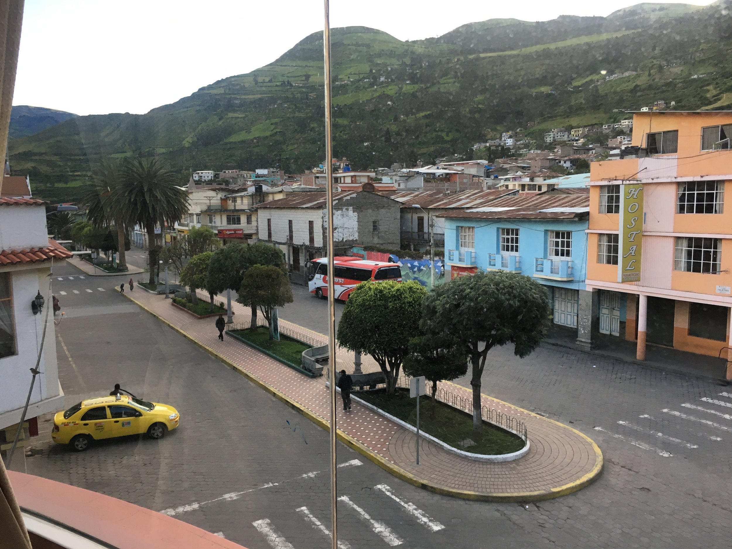 The view from our hotel in Alausi.