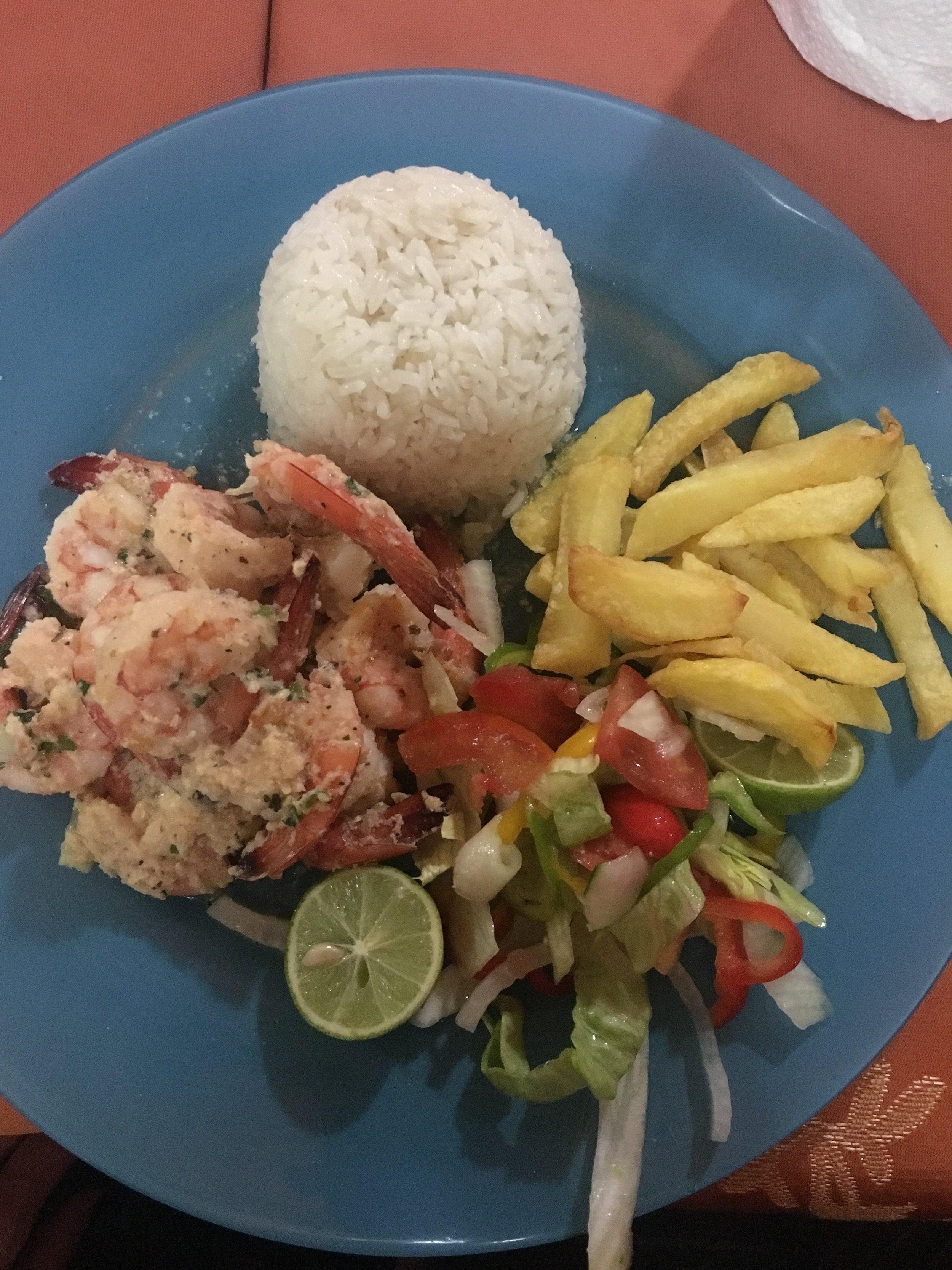 My dinner--coconut shrimp.