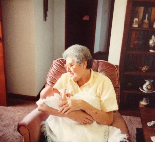 My Grandmama and I as an adorable, wrinkly babe. I was born on her birthday.