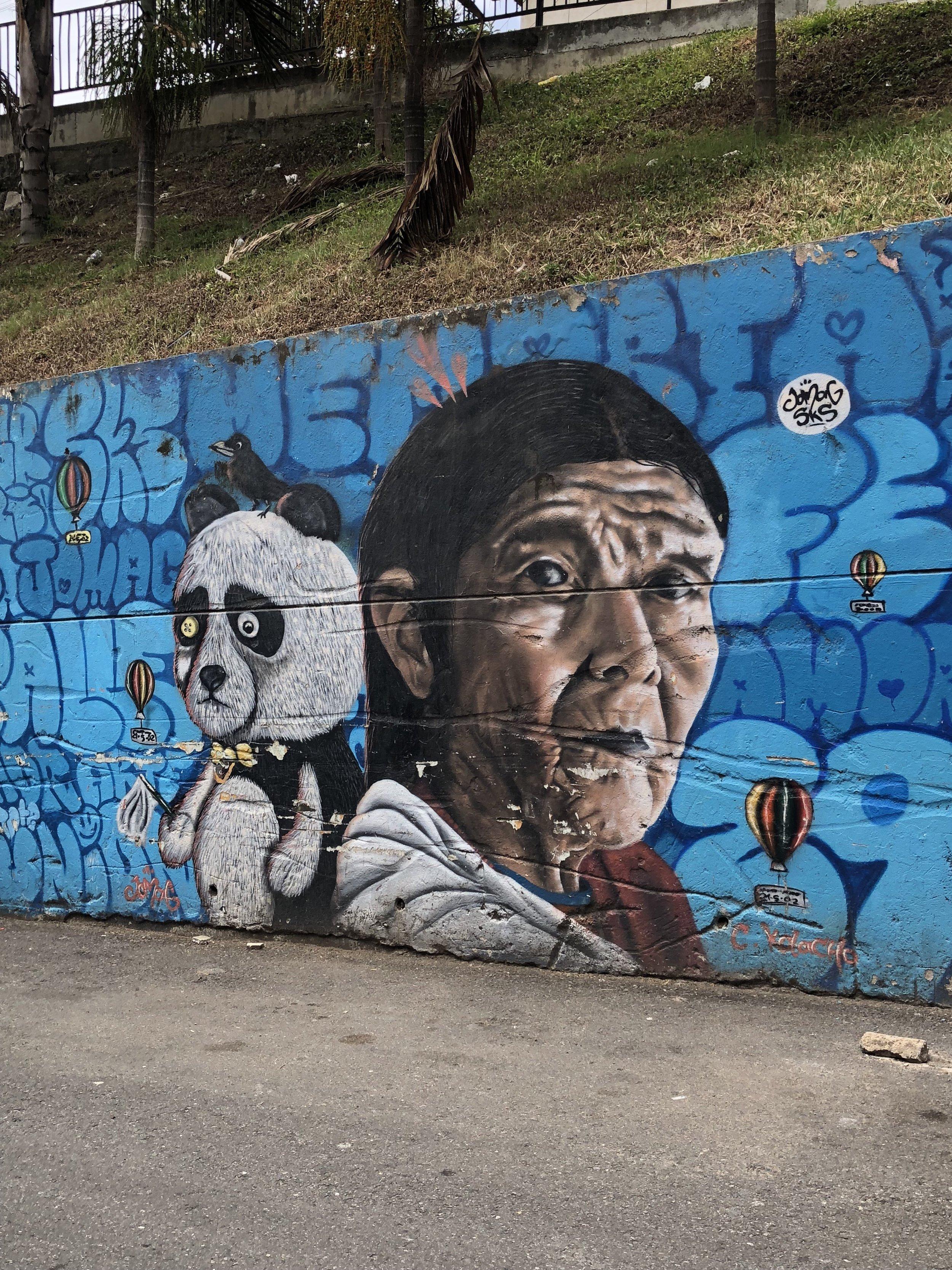 Street art in Comuna 13.
