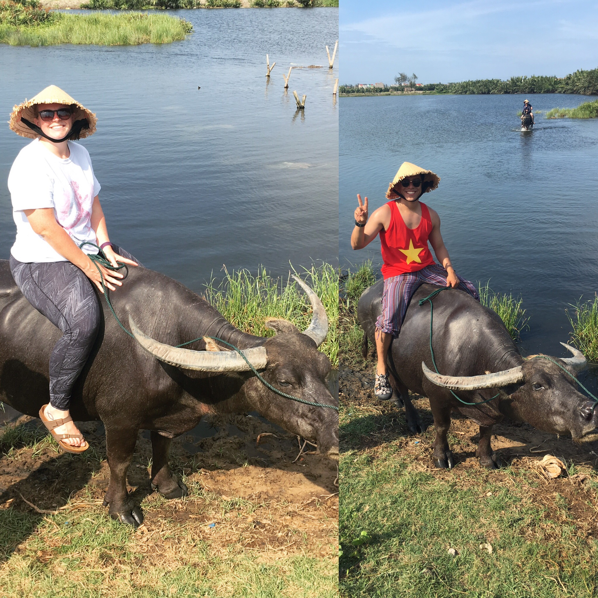 Travel makes you do weird things like: hop on the back of a water buffalo and ride out into the water.