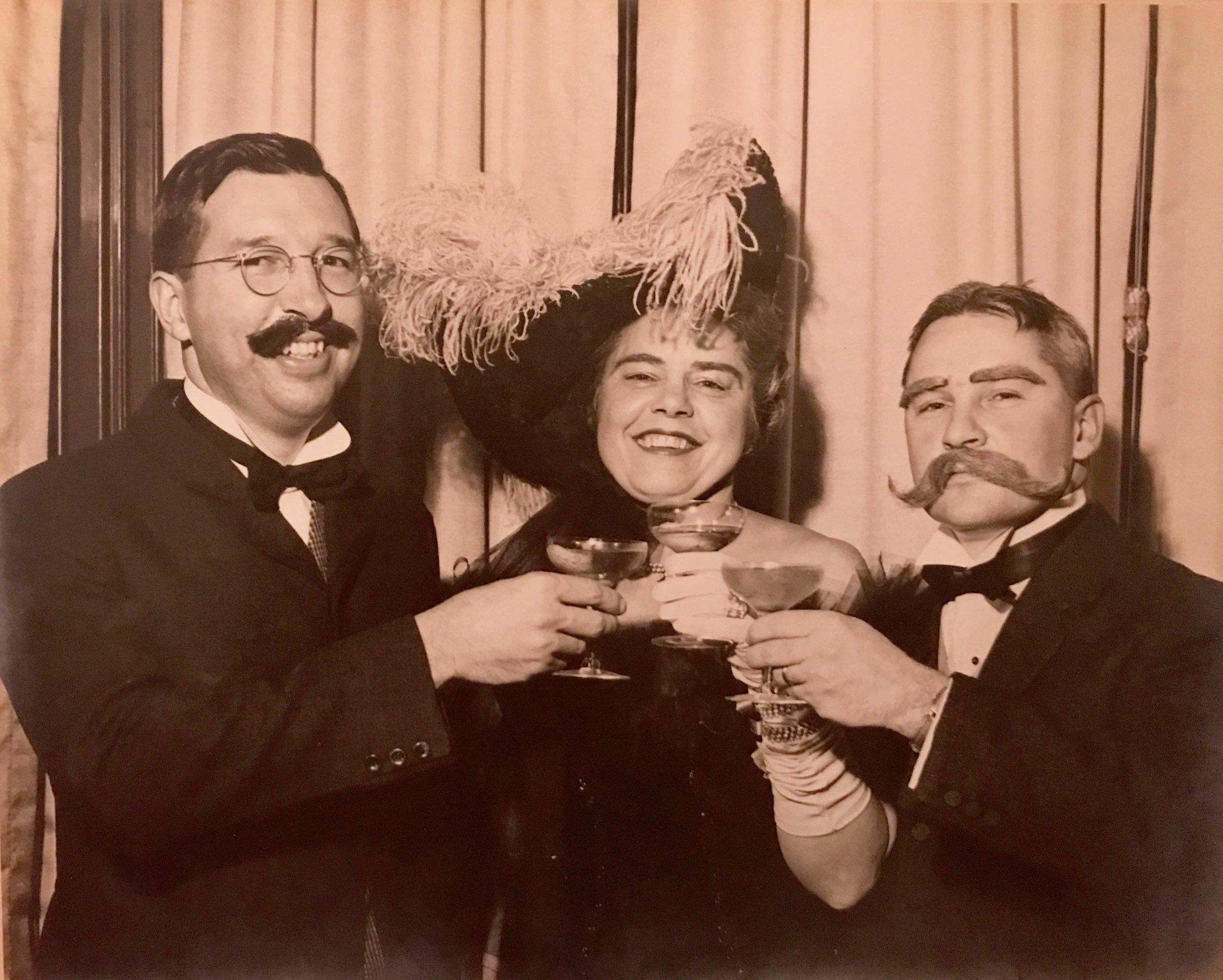 Ed Dewey, Trinette Royce Dewey, and Tom Dewey