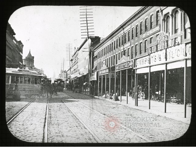 Fulton St. and Flatbush Ave., circa 1890 — Brooklyn Historical Society
