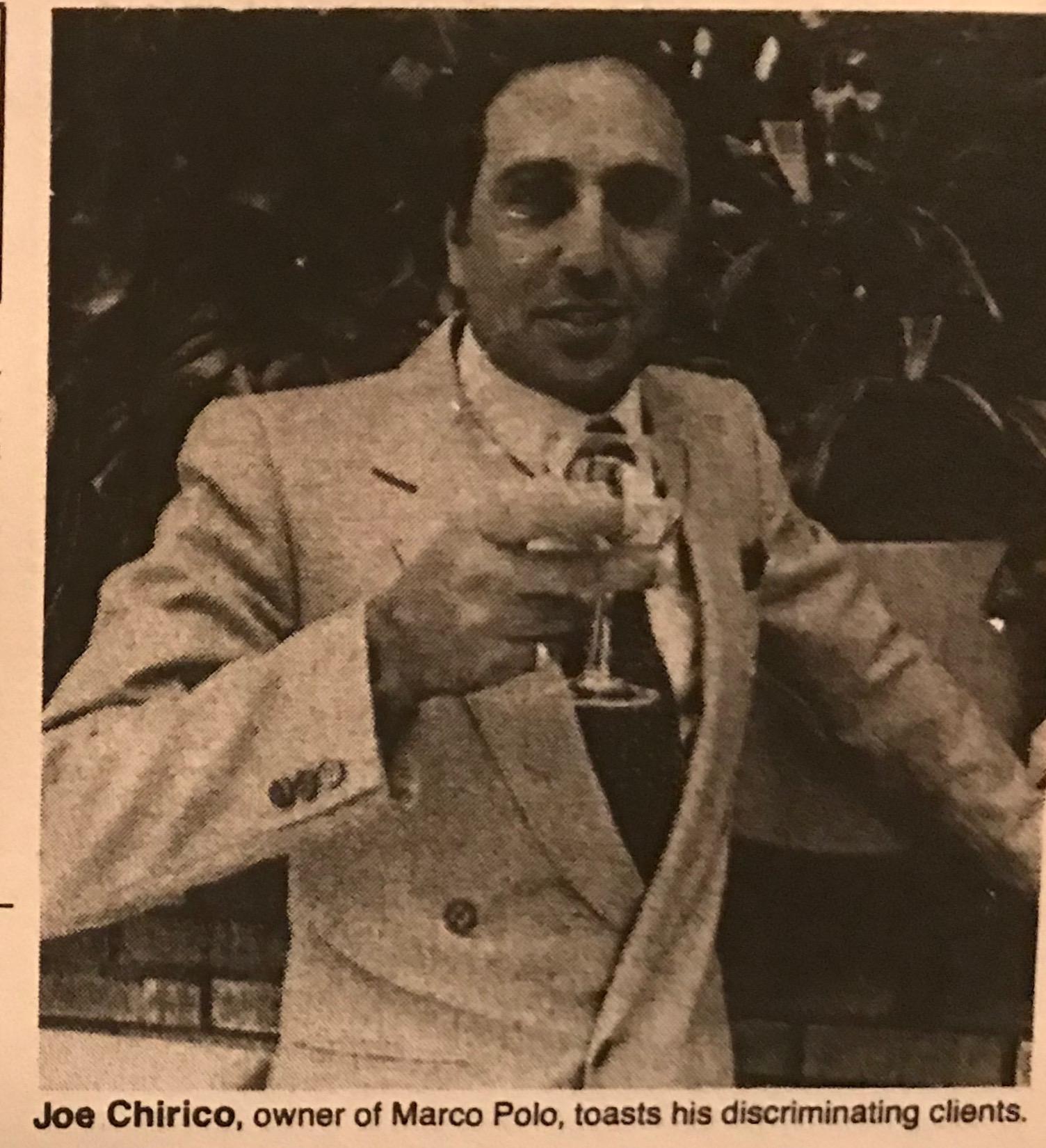 Joe Chirico, 1986