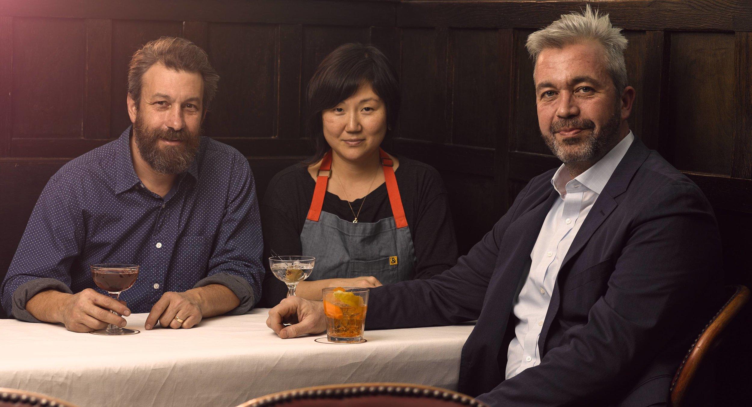 Ben Schneider, Sohui Kim, and St. John Frizell