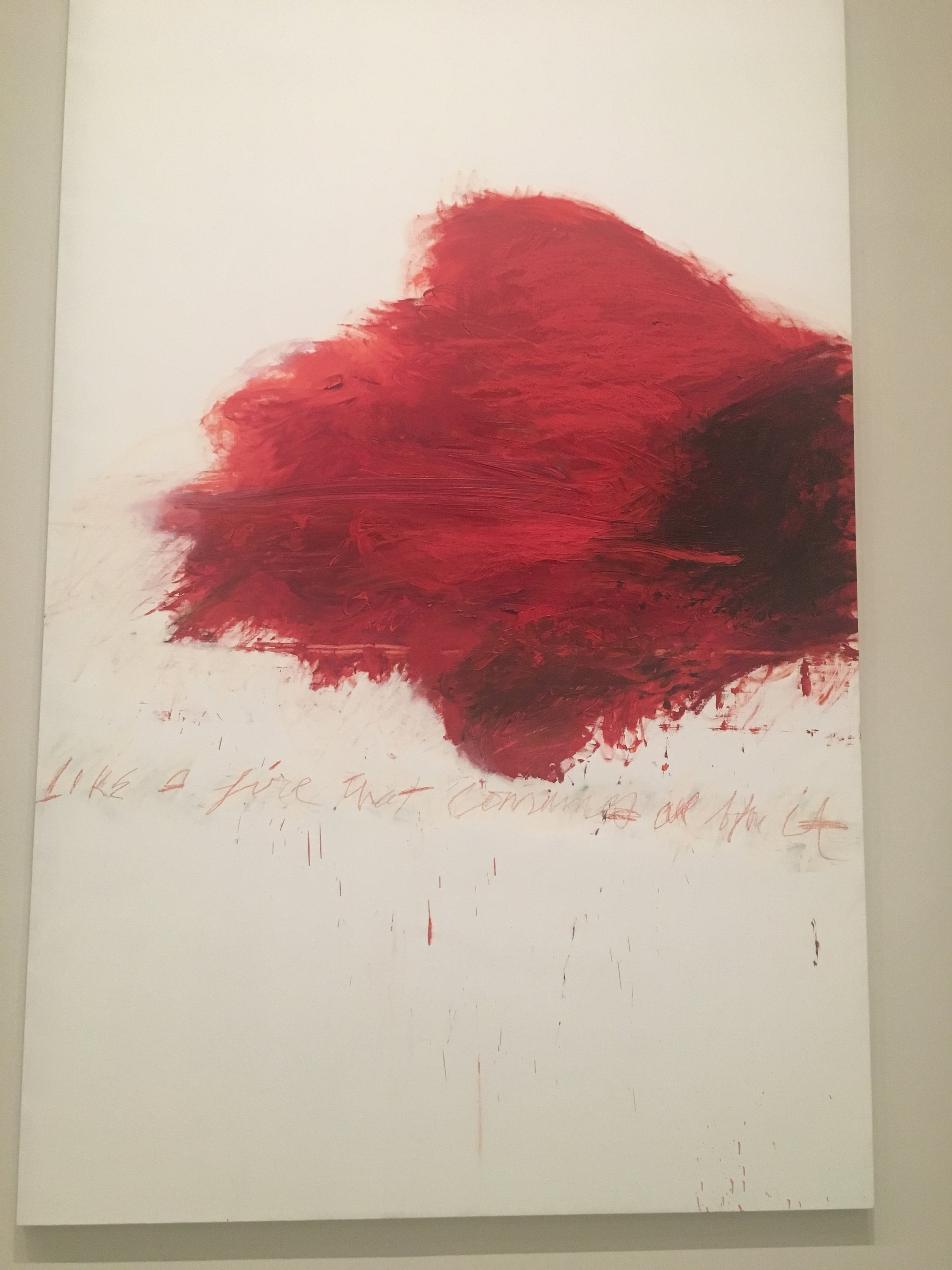 Cy Twombly - Like a Fire that consumes all before it. This one speaks to my rage. The artist was inspired by Homer the Iliad.