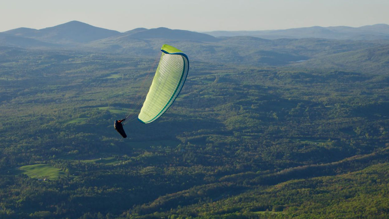 The author, Calef, playing around in front of launch at Burke Mt., Vermont. Photo by Ryan Dunn.