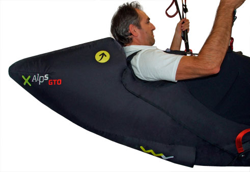 Self-inflating rear section for better aerodynamics.