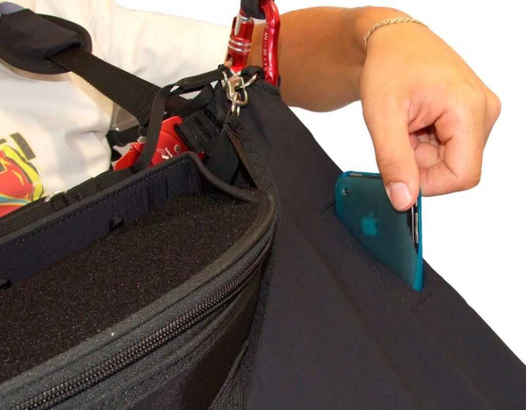 Pockets accessible during flight