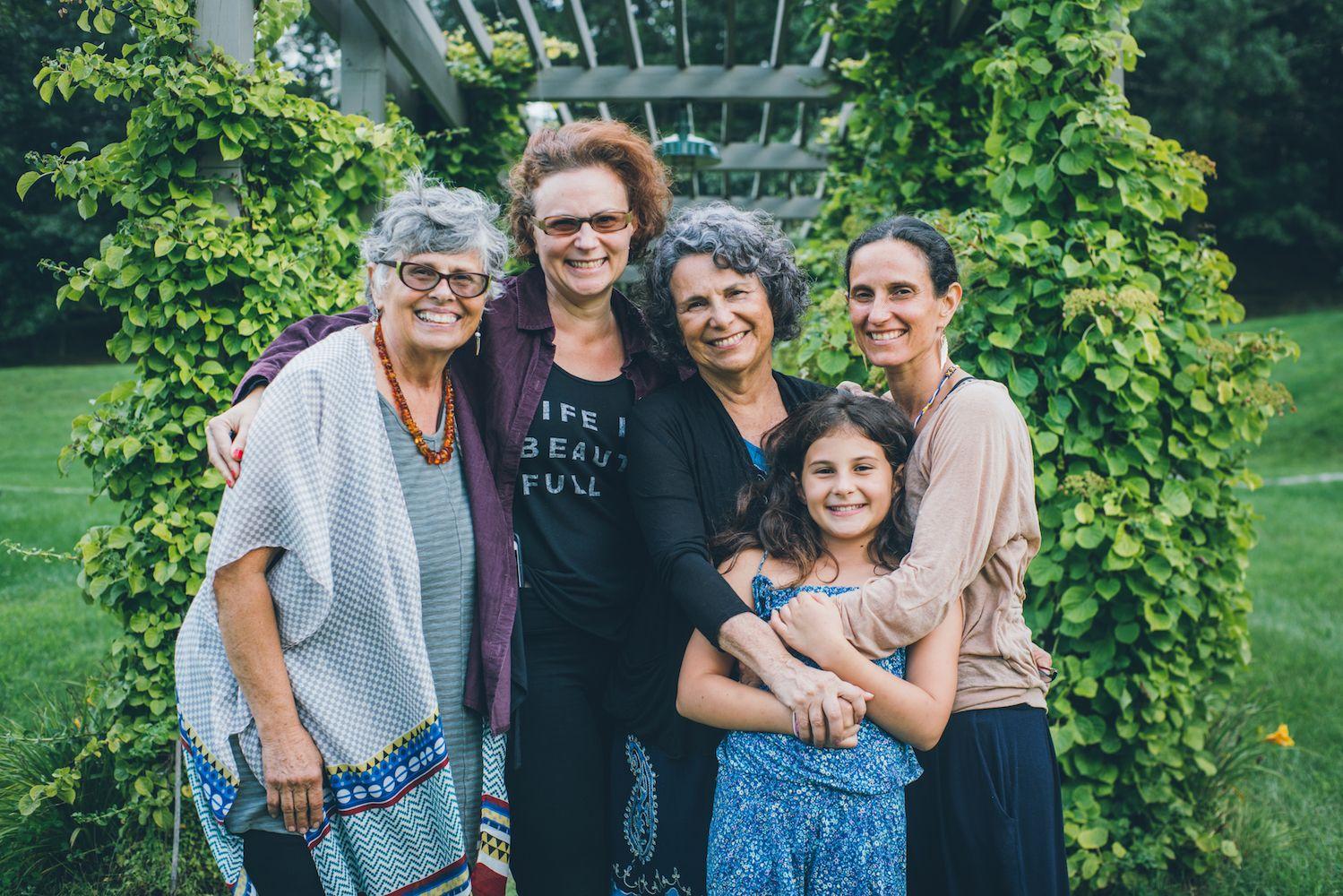 INANNA CHAMPAGNE (far left)