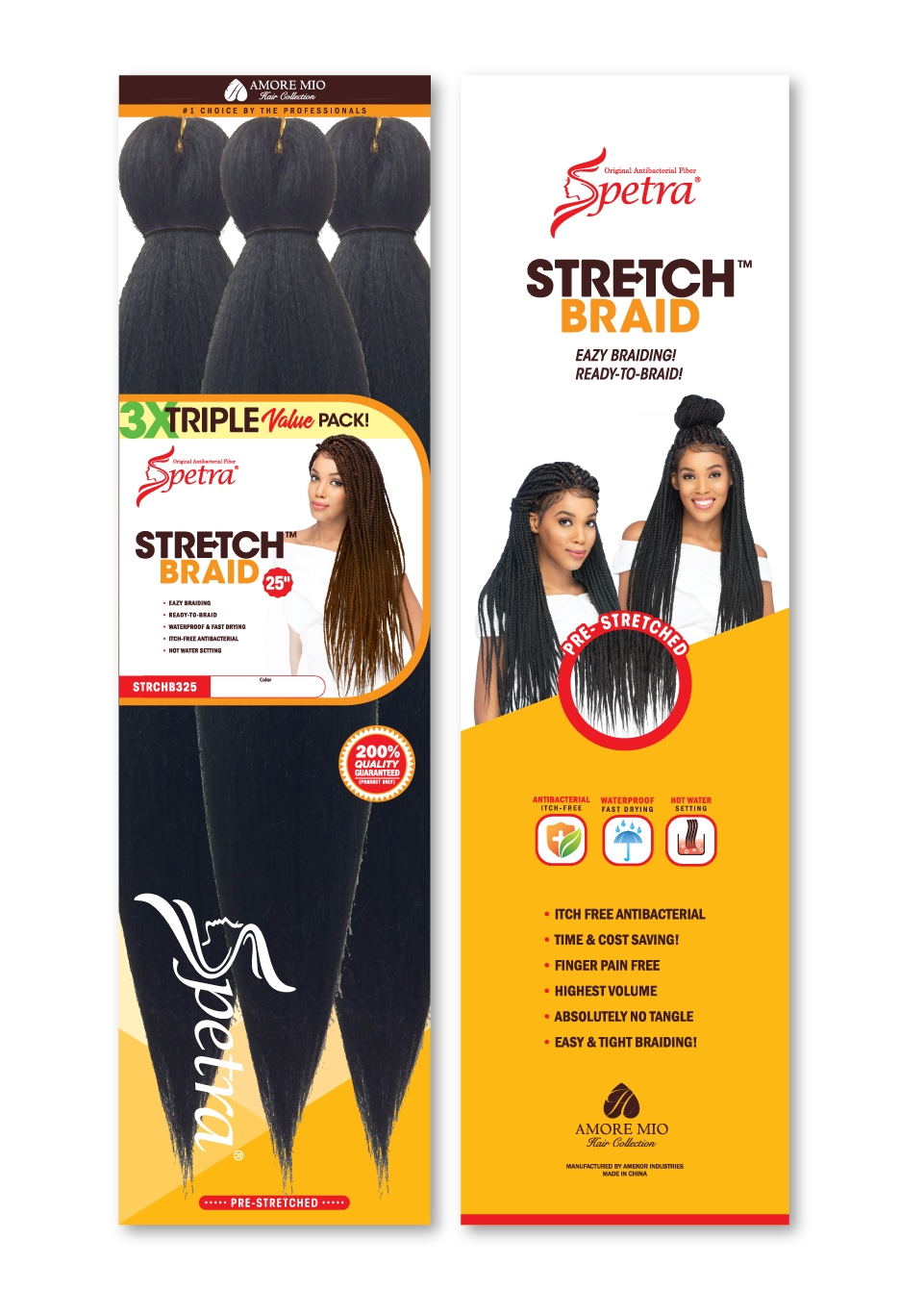 SPECTRA PRE-STRETCHED BRAIDING HAIR - Easy braiding. Great Value. High Quality.