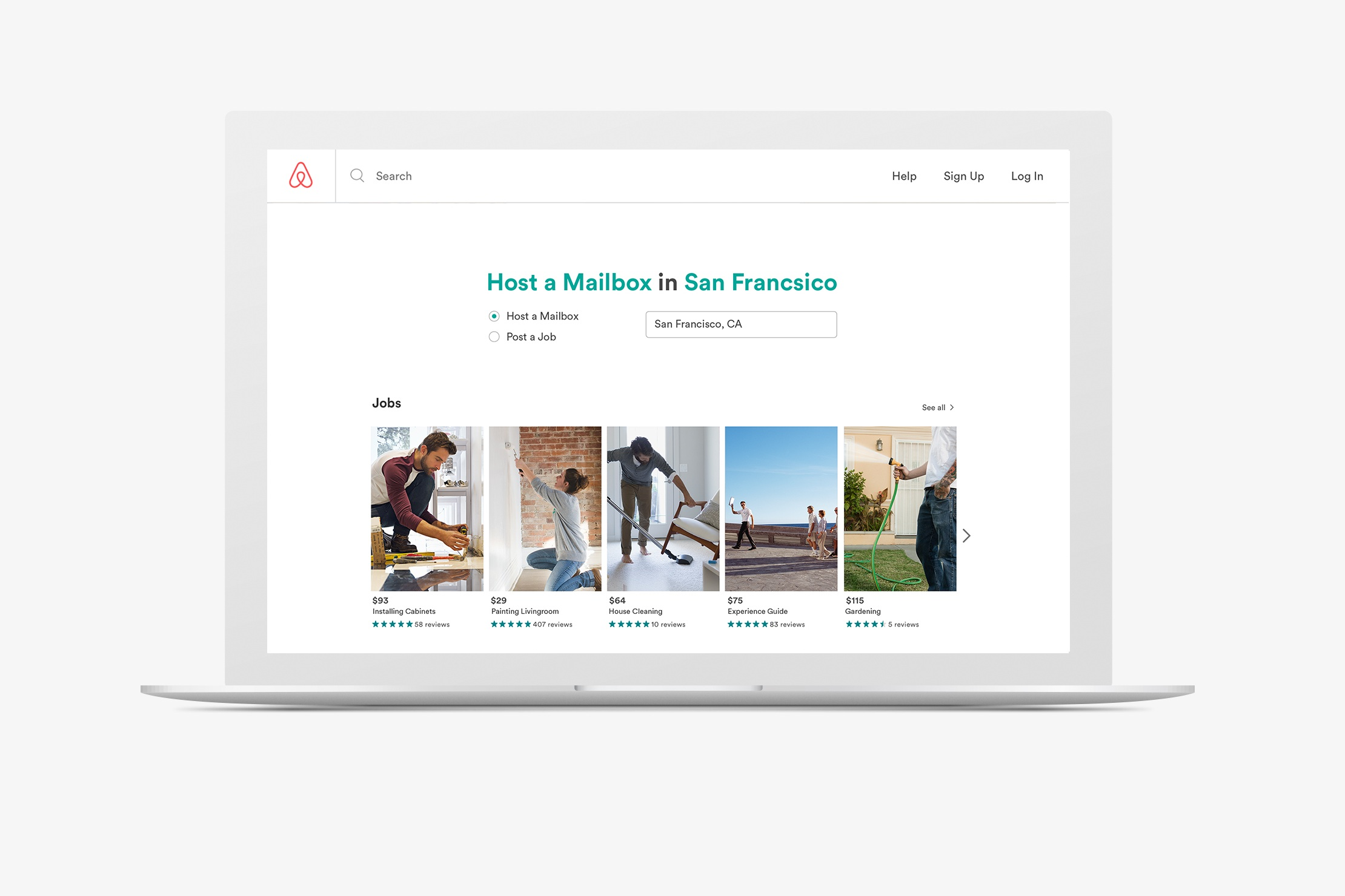 III. - Establishing a new cycle.To keep people from falling back into a homeless situation, Airbnb will also help employ those in need by creating a section of Airbnb.com where hosts can post jobs they need done around their property or sponsored ones within the community.