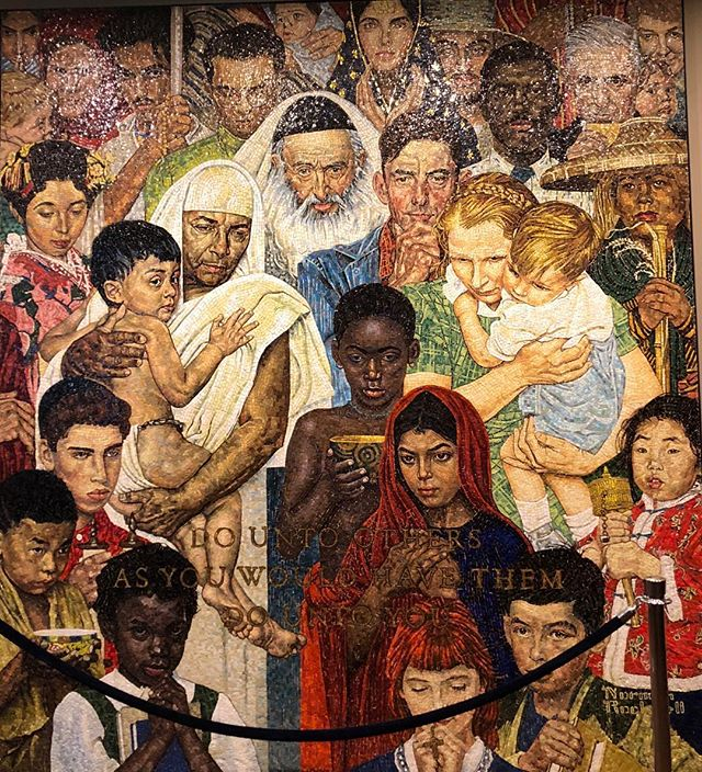 """Do unto others as you would have them do unto you"" ~Golden Rule by Norman Rockwell✨ featured at the UN headquarters in NYC and also featured on my blog under photos #blogger #unitednations #lblogger #bloggerpals🌹"