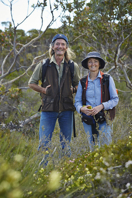 Simon and his colleague Angela Sanders are regarded by Bush Heritage as 'The Dream Team'.