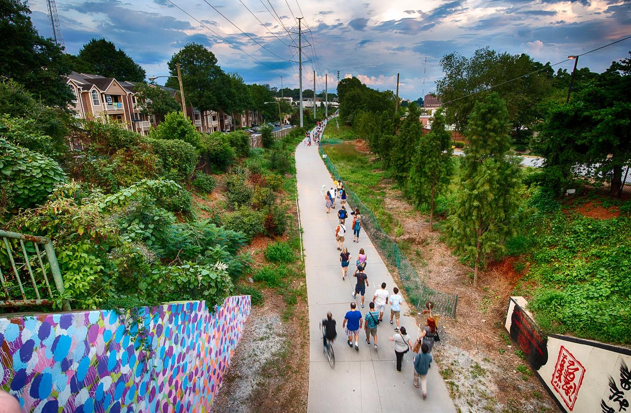 The Atlanta Beltline - connecting 45 neighbourhoods. Photo credit: www.georgiastatesignal.com