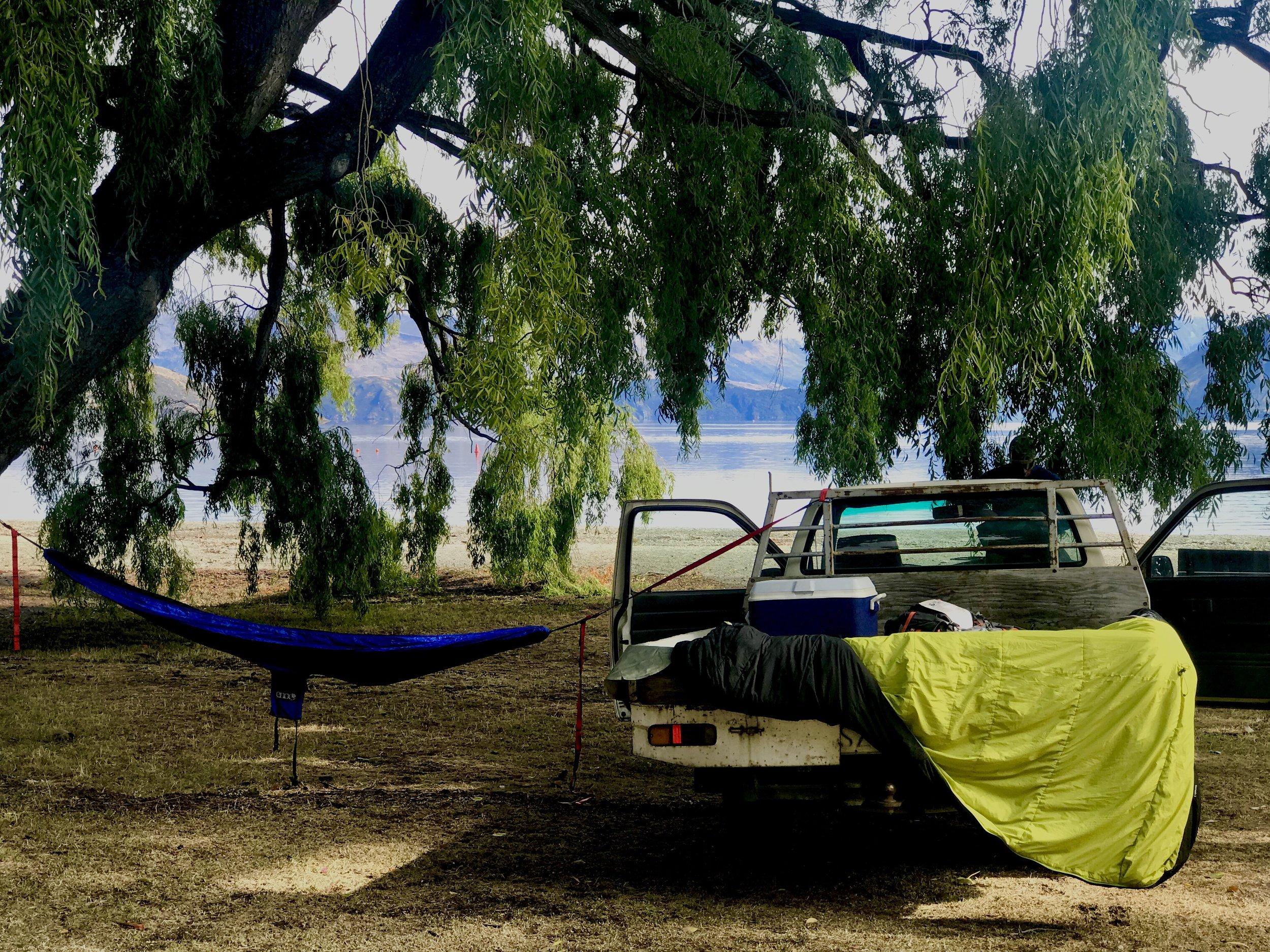 Freedom campers in Wanaka. Photo credit Nikki Heath, Wanaka Sun.