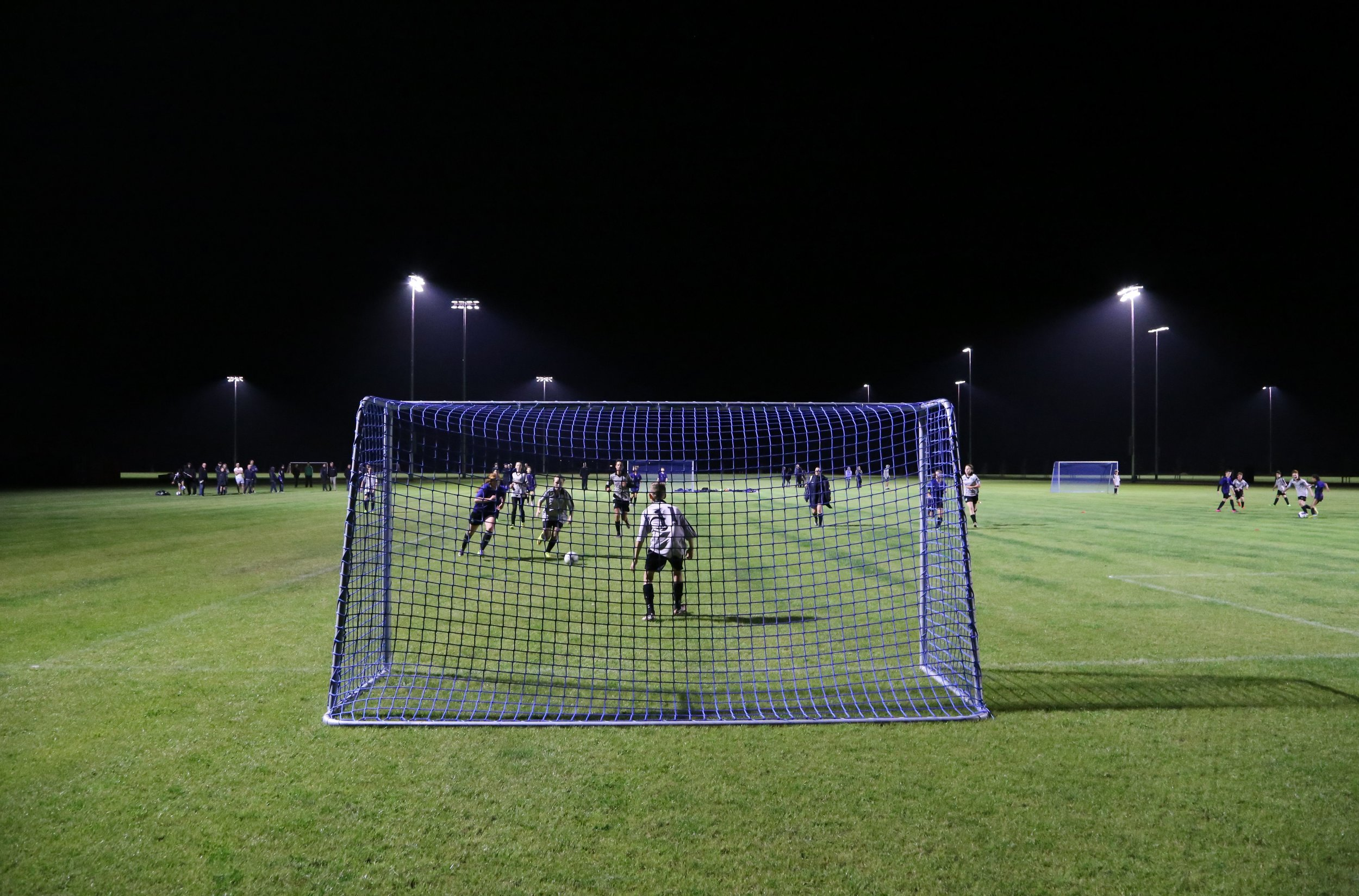 Selwyn United Football Club is making good use of the LED lights.  Photo credit: Alistair Marshall, Boffa Miskell.