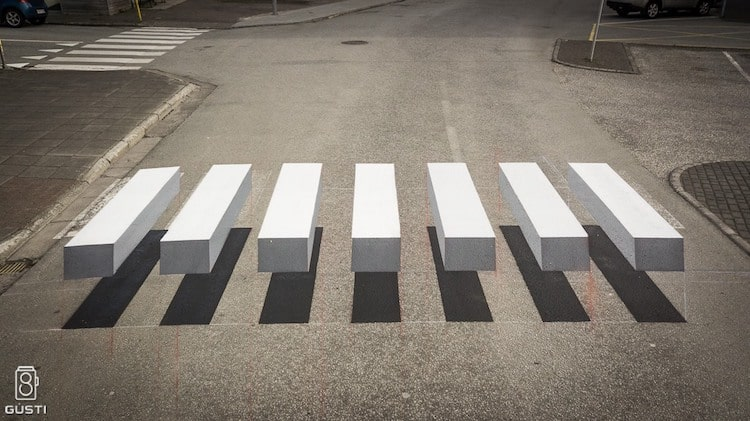 The Icelandic 3D pedestrian crossing unveiled last year.