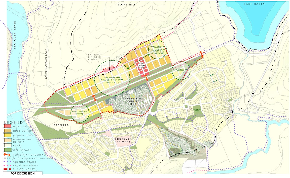 The masterplan for the controversial Special Housing Area at Ladies Mile,