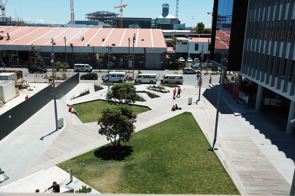 The Jasmax VXV project is set within Auckland's Wynyard Quarter - photography by Mayank Thammalla