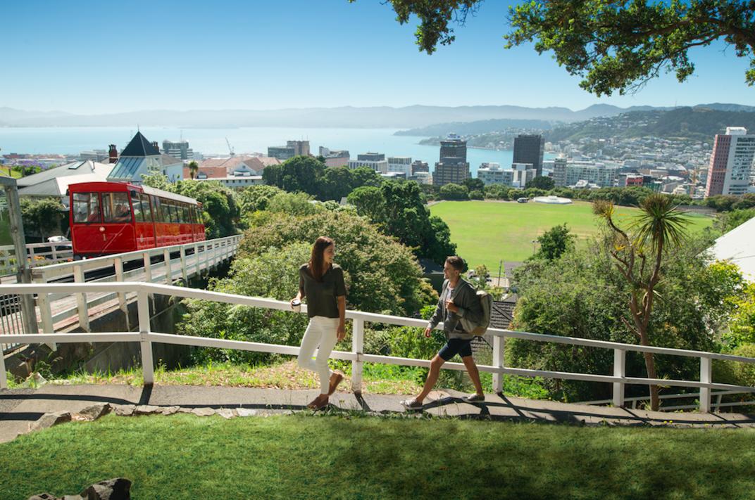Walkers in Kelburn, Wellington. Photo credit; Julian Apse.