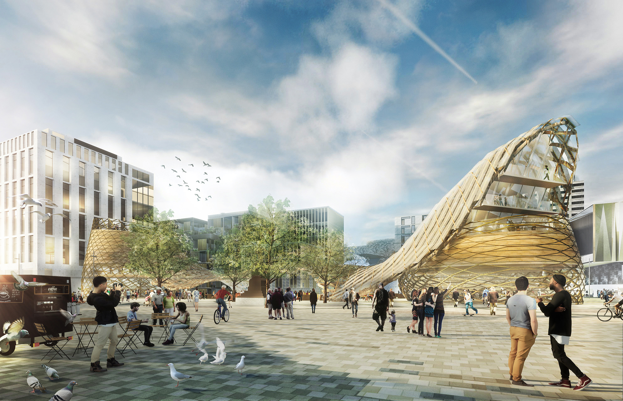 Regenerate Christchurch says the square needs to be a strong symbol of the future of the city.