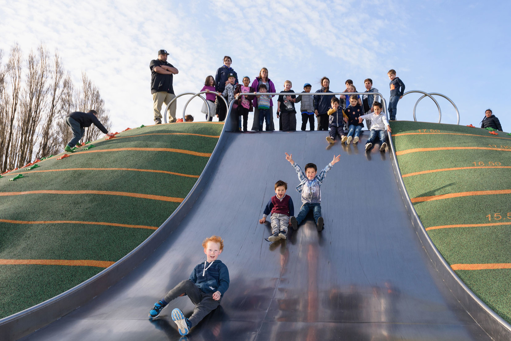 The award winning Margaret Mahy Family Playground by WSP Opus brought play back to post-quake central Christchurch. Photo courtesy of Opus International Consultants Ltd.