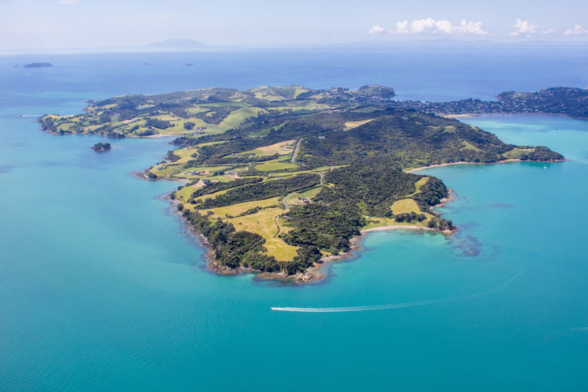 An aerial view of Waiheke Island. Photo credit - Skyview Photography Ltd.